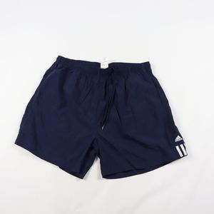 90s Adidas Mens XL Spell Out Soccer Shorts Blue